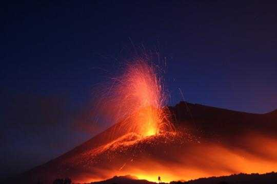 The World's Five Most Active Volcanoes (today Etna and ...