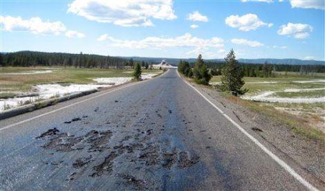 Yellowstone Hot Road
