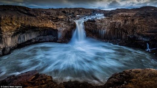 spectacular Godafoss waterfall